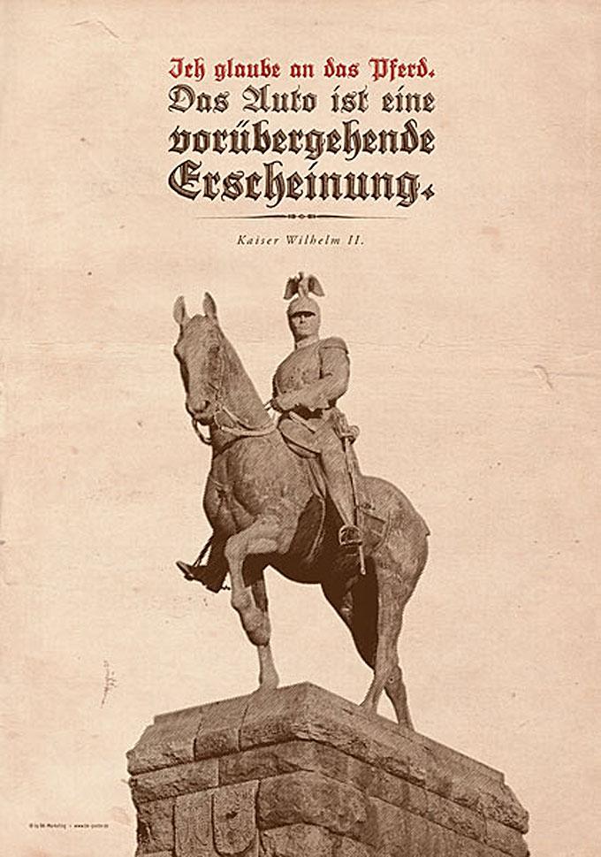 """Sind Die Printmedien Die """"Pferde"""" Von Heute? Mit Freundlicher Genehmigung Von Bk-poster.de / © BK Marketing / Bernd Huck"""