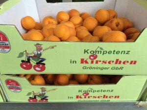 """Neu!! Jetzt behaupten Aprikosen """"Kompetenz in Kirschen"""" © Kerstin Hendess"""